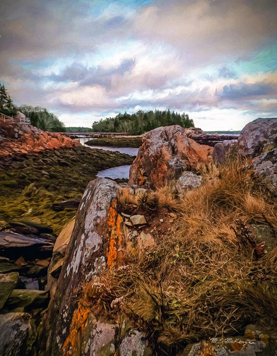 South Bristol Rock Formations - Saco River Art & Photography