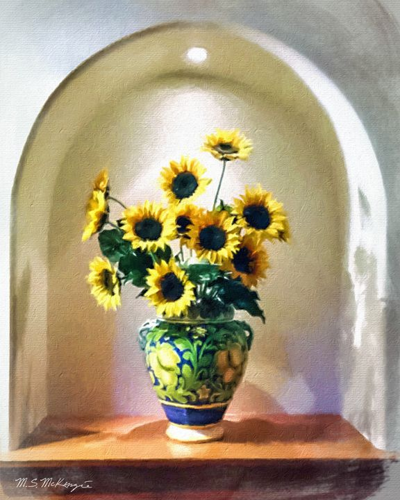 Vase with Sunflowers - Saco River Art & Photography
