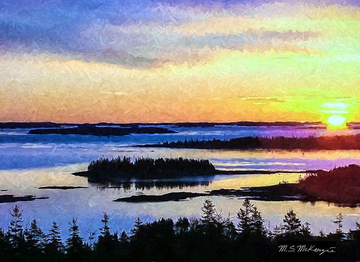 Sunrise over Pigeon Hill, Stueben - Saco River Art & Photography