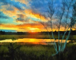 Scarborough Marsh Sunset - Saco River Art & Photography