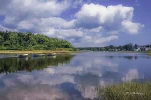 Three Dories on the Kennebunk River - Saco River Art & Photography