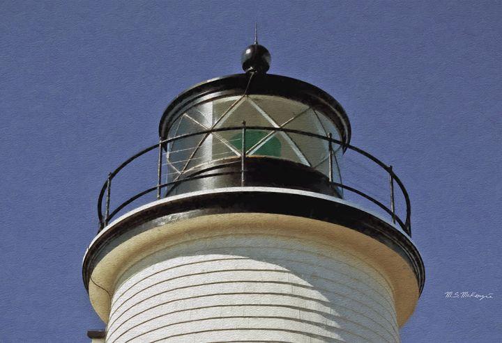 Newberry  Harbor Light Plum Island M - Saco River Art & Photography