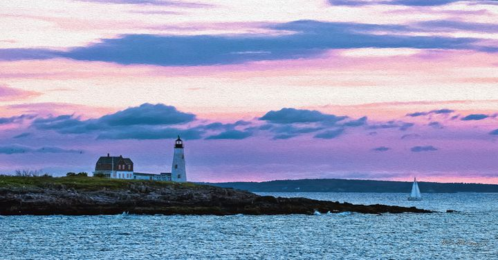 Wood Island Sunrise Biddeford Maine - Saco River Art & Photography