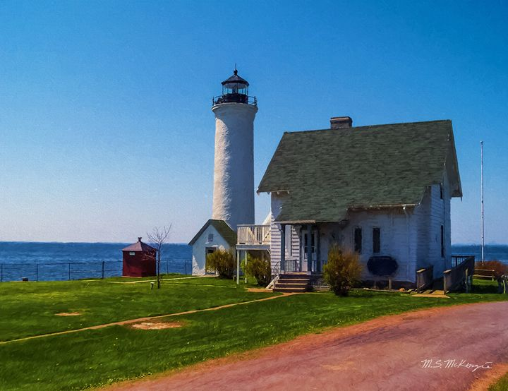 Tibbetts Point Light Cape Vincent NY - Saco River Art & Photography