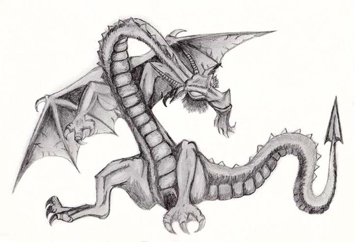 Dragon drawing - Watters Art