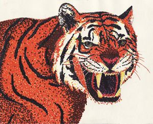 Tiger Marker Pointillism
