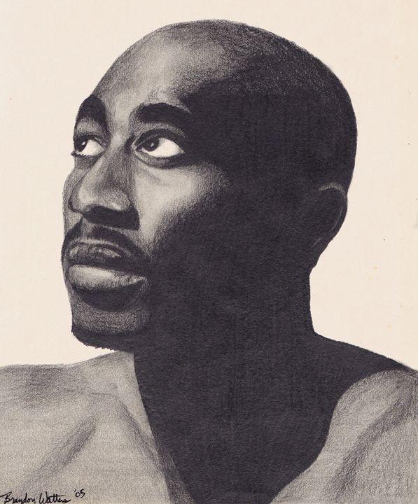 Tupac Looking Up - Watters Art