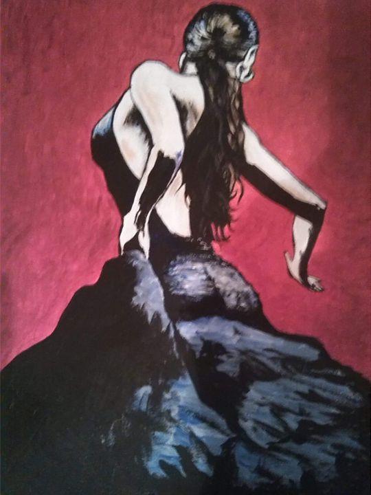 Flamenco Dancer - Hippie Art by Mama D