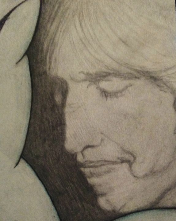 Tom Petty - Clouds - Hippie Art by Mama D