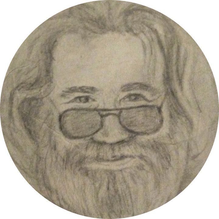 Jerry Garcia - Clouds - Hippie Art by Mama D