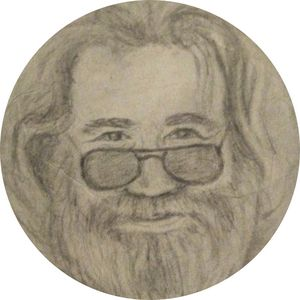 Jerry Garcia - Clouds - Hippie Art by Mama D