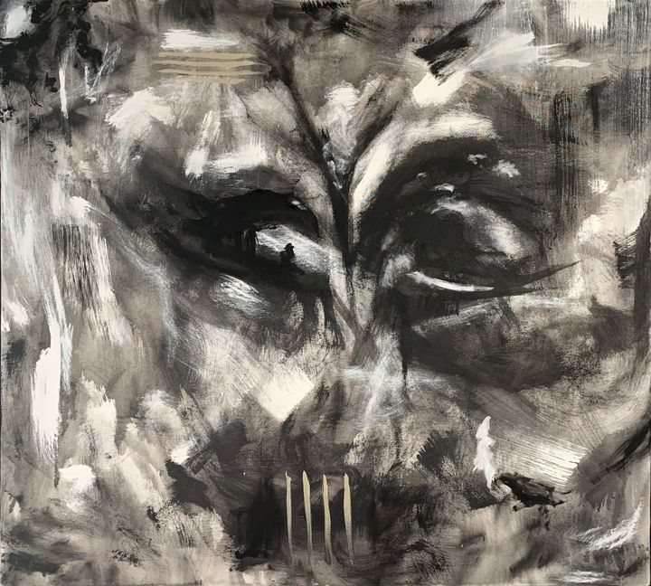 Anxiety Nerrealz Art Paintings Prints Abstract Irregular Forms Artpal