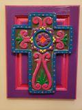Colorful Cross on Cabinet Door