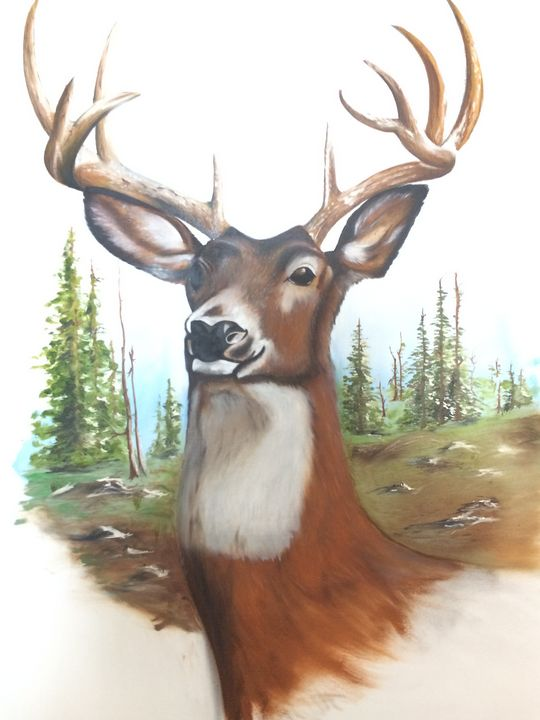 Monarch of the Glen Oil Painting - Keybart