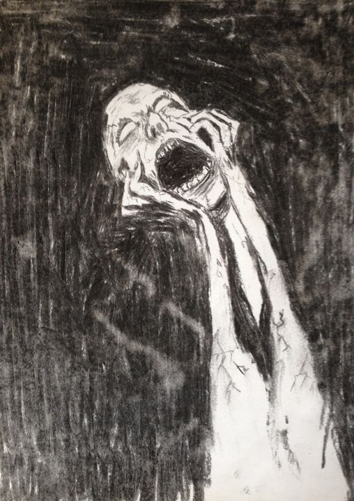 The Scream (charcoal) - Keybart