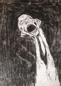 The Scream (charcoal)