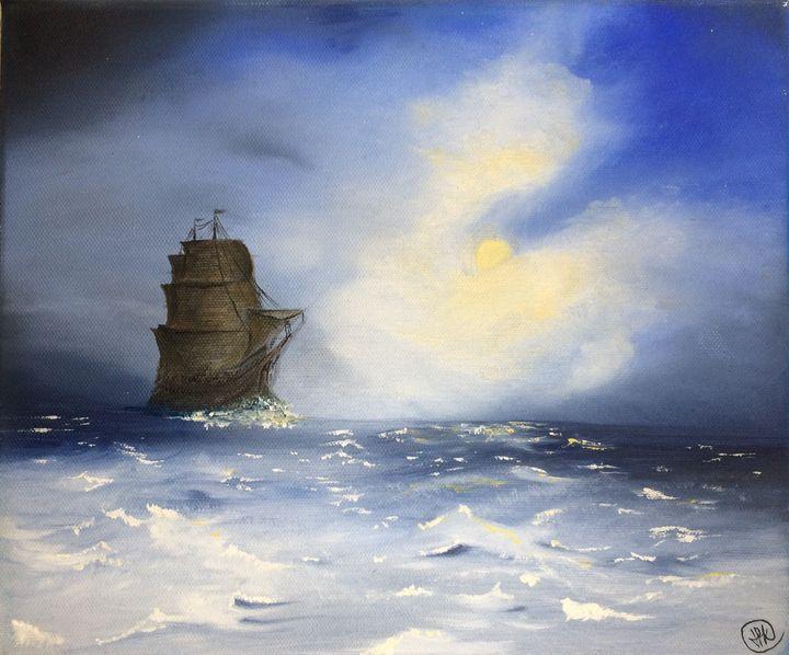 Ship at sea - Keybart
