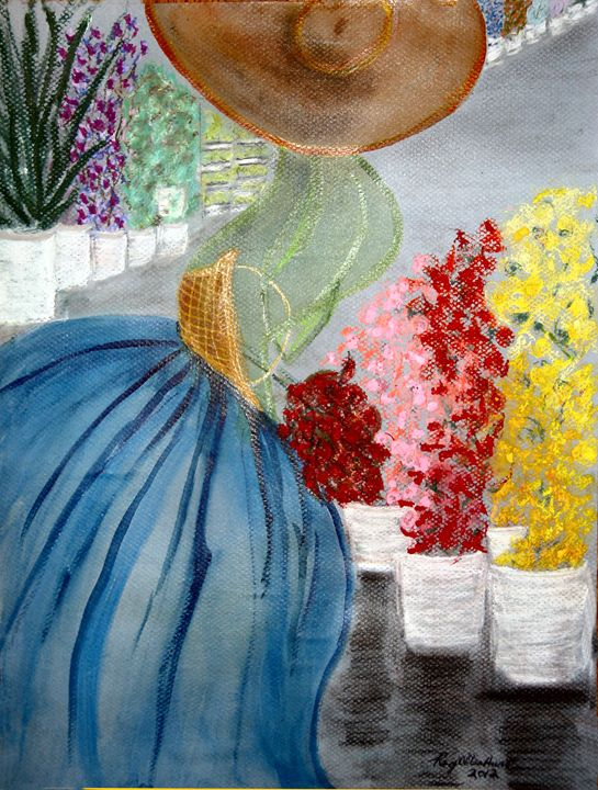 Mme at the Flower Market - RoyAllenHunt