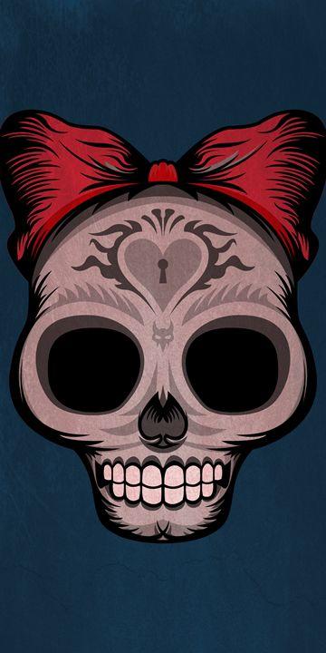Sugar Skull (Blue) - William Bell