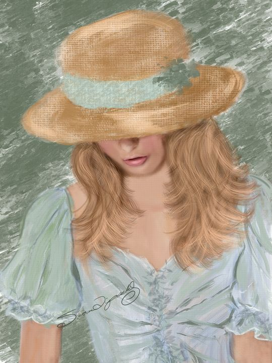A LOVELY STRAW HAT - SHAYNA PHOTOGRAPHY