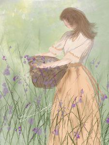 GIRL IN TALL GRASS
