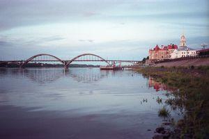 Bridge over the Volga river