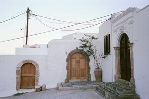 Three doors in Lindos