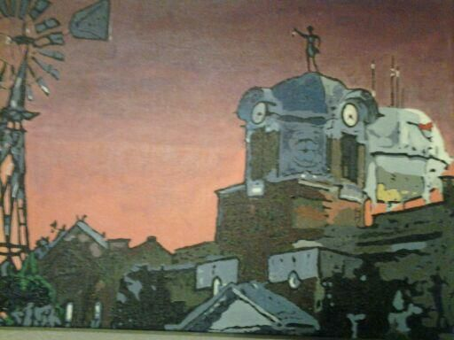 Grapevine Texas Main Street Sunset - Paintings by: Ramsey Aaron Brown
