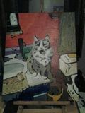 16 x 20 The Cat Original Acrylic