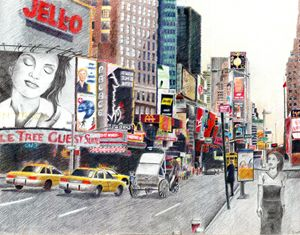 Zulu Girl in Times Square - Art DeSines