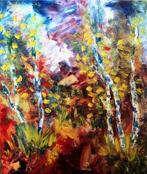 Birch trees - Ketevan Gordeziani Art