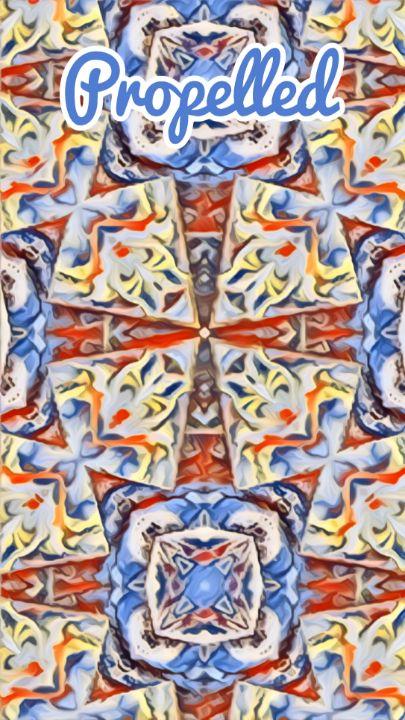 Propelled Abstract digital print - BJG Abstract Arts