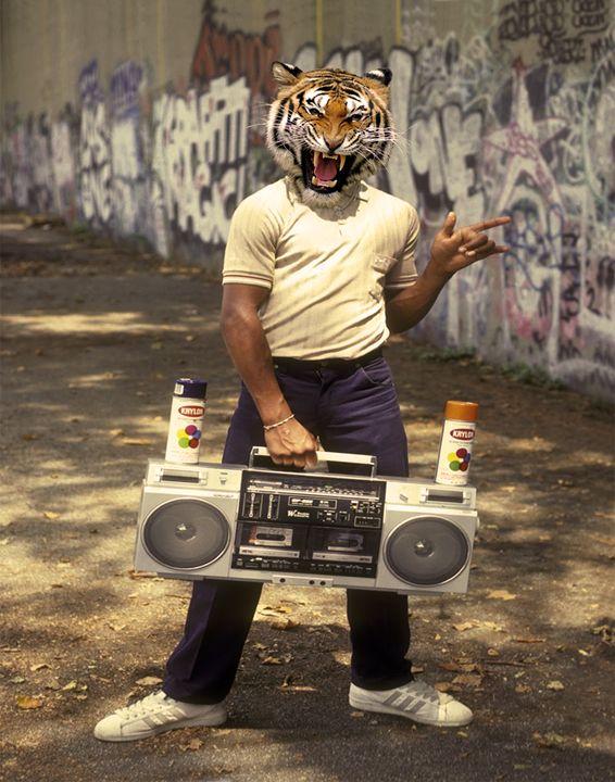 80's Tiger - Amor Libertas Pop Prints