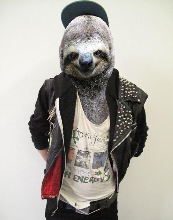 Sloth Punk - Amor Libertas Pop Prints