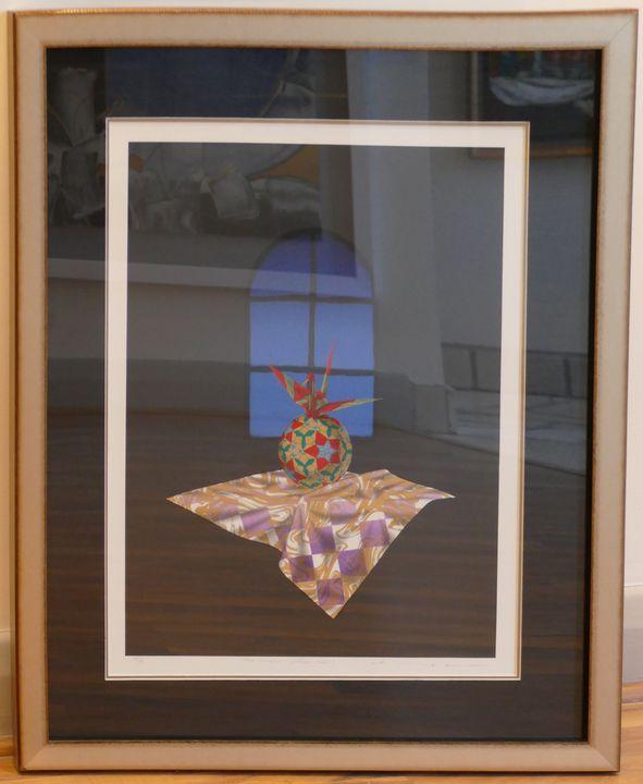 Blue Window and Folded Crane - Frame of Mind