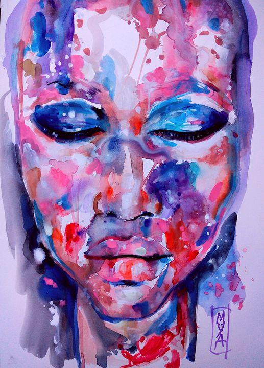 Purple face - MYA Mounia Lazali