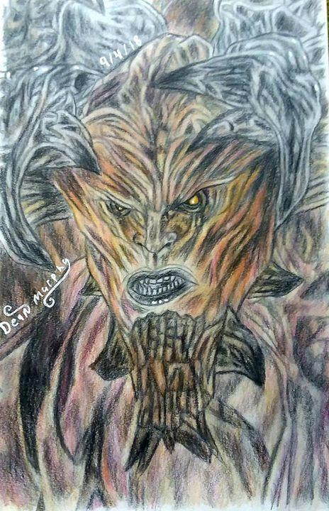 Drawing of Samael - Art of Dean Murphy
