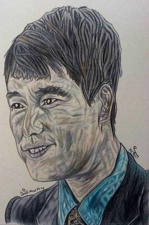 Drawing of Jung Woo-Sung - Art of Dean Murphy
