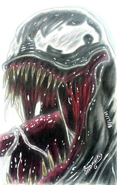 Drawing of Venom - Art of Dean Murphy