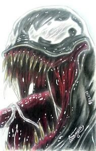 Drawing of Venom - Art of Dean Murphy