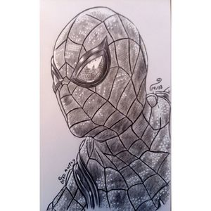 Drawing of Spider Man