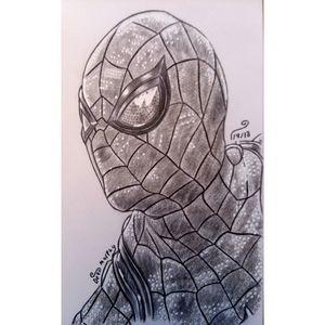 Drawing of Spider Man - Art of Dean Murphy