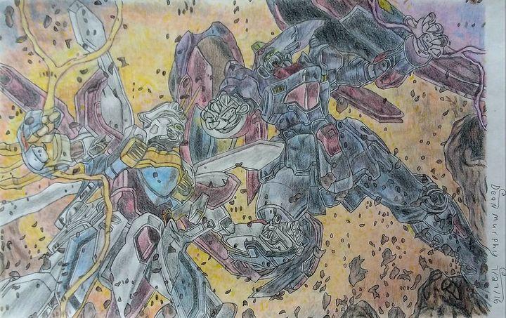 Drawing of Gundams - Art of Dean Murphy