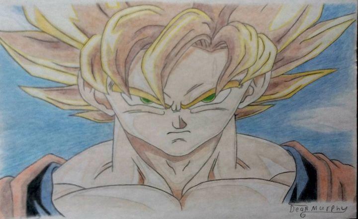 Drawing of Goku - Art of Dean Murphy