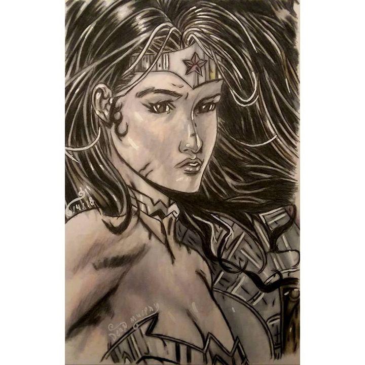 Drawing of Wonder Woman - Art of Dean Murphy