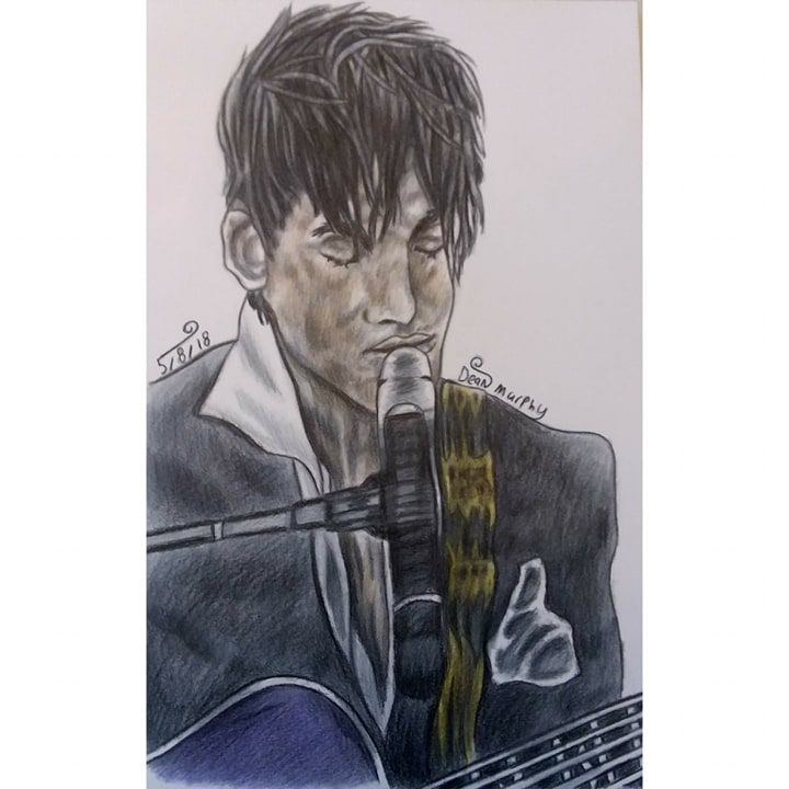 Drawing of Prince - Art of Dean Murphy