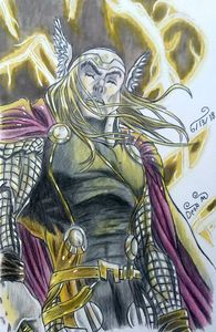 Drawing of Thor - Art of Dean Murphy