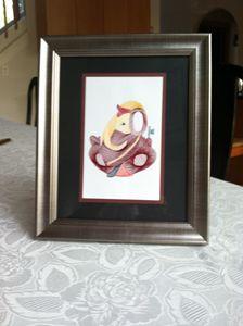 Ganesha Artwork in Pewter frame