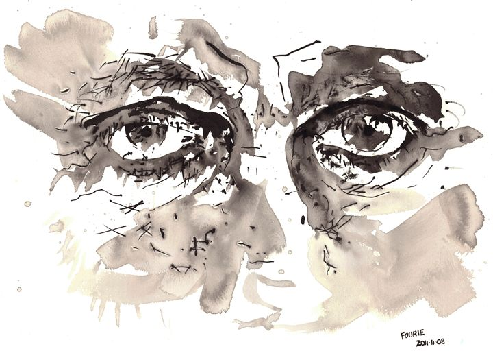 Sketch of a mans eyes - Morne Fourie