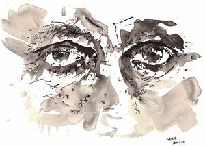 Sketch of a mans eyes